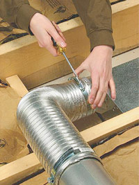 Add flexible metal ducting