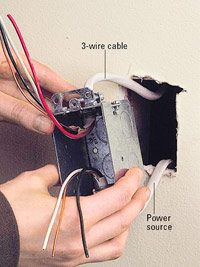 Run cables to switch box