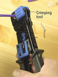 Crimp wires to plug