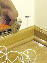 Staple to base molding