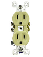 Grounded 15-amp, 120-volt receptacle