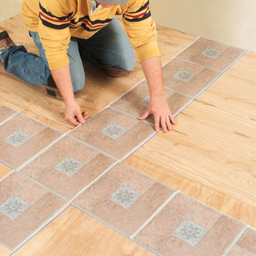 installing self stick vinyl tile how to install resilient floors flooring installation diy. Black Bedroom Furniture Sets. Home Design Ideas