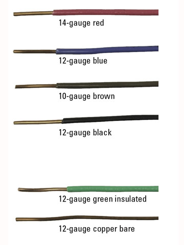 electrical cable and wire types, colors and sizes  electrical, house wiring