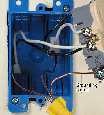 grounding your electrical system home residential wiring plastic box enlarge image