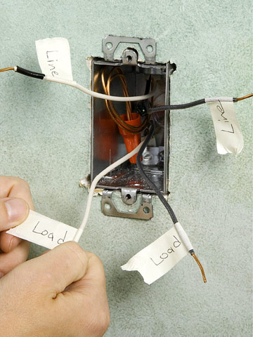 replacing a thermostat for an electric baseboard heater label wires enlarge image