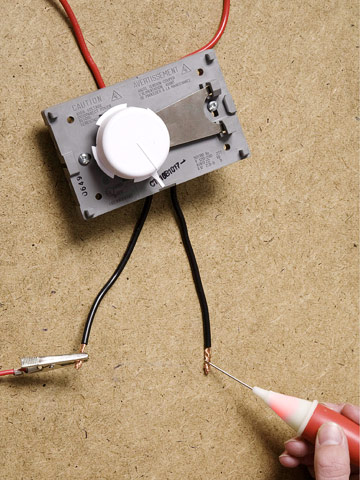 replacing a thermostat for an electric baseboard heater test thermostat enlarge image