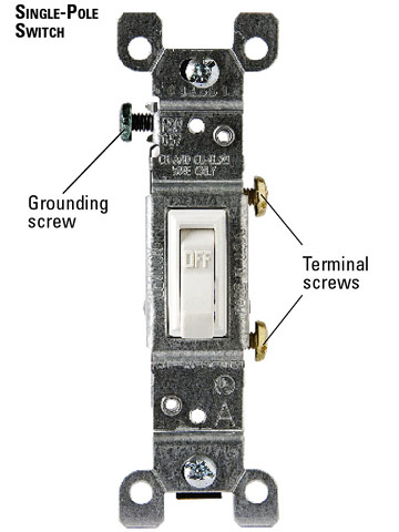 replacing single pole switches how to install a switch or single pole switch enlarge image