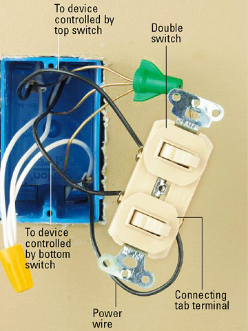 combination switches double unswitched toggle remote fan double switch