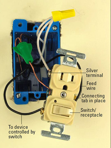 switch outlet combo wiring diagram