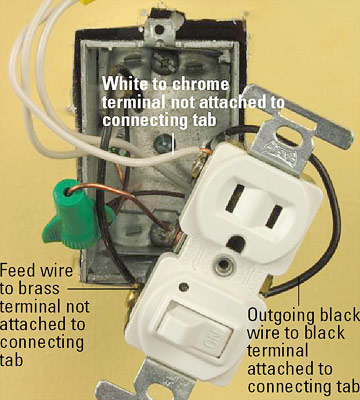 p_SCW_102_04 how do i connect a gfci outlet to a single pole light switch light switch receptacle combo wiring diagram at n-0.co