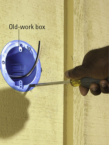 How To Install A Wall Light Junction Box : Adding a Porch Light - How to Install a Light Fixture or Fan - Home & Residential Wiring. DIY Advice