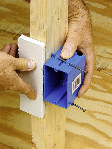 installing an electrical box in framing how to install position box enlarge image