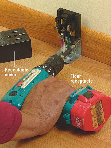 installing a 240 volt receptacle how to install a new electrical fasten receptacle enlarge image