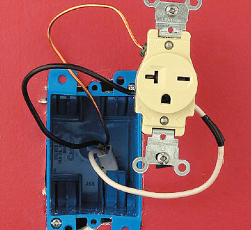 Installing a 240-volt Receptacle - How to Install a New Electrical ...