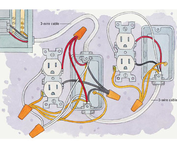 Double Outlet Box Wiring Diagram on how to wire two outlets in one box
