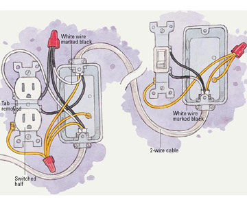 installing a switched receptacle how to install a new electrical if power enters the receptacle box enlarge image