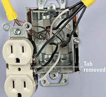 Switched Receptacles on how to wire two outlets in one box
