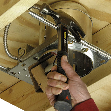 Installing Recessed Cans How To Install A New Electrical Fixture Home Am