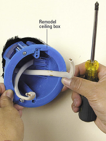 Installing Wall Mounted Lighting - How to Install a New Electrical Fixture - Home & Residential ...