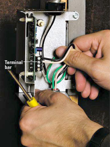 installing a gable fan how to install a fan or heater home wire thermostat enlarge image