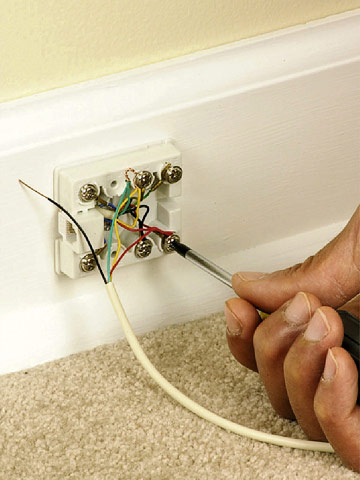 installing phone lines how to install a voice data or security tighten screws enlarge image