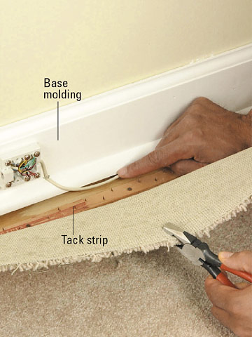 How to run wire under carpet