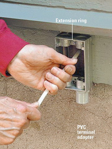 Extending Power Outdoors How To Install Outdoor Wiring Home Residen