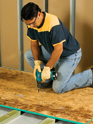 Framing sleeper floors preparing the floor flooring - How to replace subfloor in bathroom ...