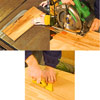 Cut using tablesaw, Cut using tablesaw, Cut using circular saw, Cut using utility knifeusing circular saw