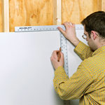 measuring and marking drywall