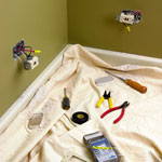 Electrical Tools on a dropcloth
