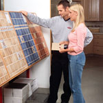 Woman & Man Selecting Tile Styles