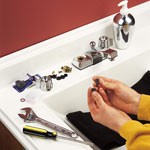 install sink faucet