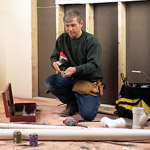 man with electrical tools