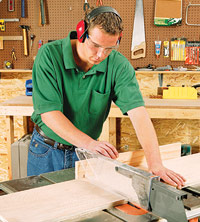 Crosscut plywood parts