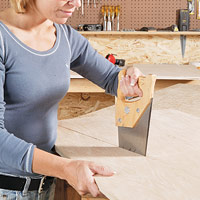 Finish cuts with handsaw