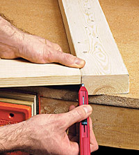 Mark edges for cuts