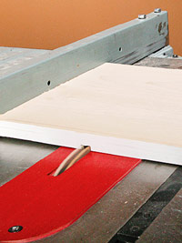 Cut with dado set on tablesaw