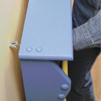 Attach with toggle bolts