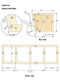 Vertical trim pieces diagram