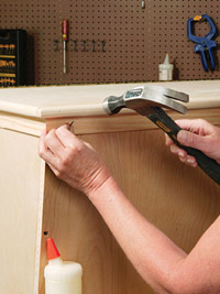 Nail horizontal trim pieces