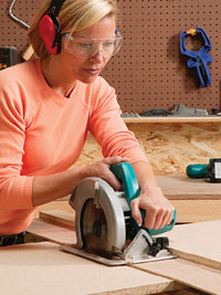 Cut parts with circular saw