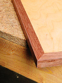 Hardwood edging