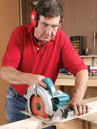 Cut base pieces with circular saw