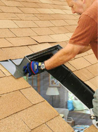 Slip head flashing under shingles