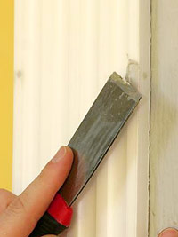 Fill nail holes with wood filler