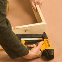 Assemble door frame with nails