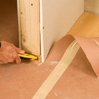 Trim floor covering