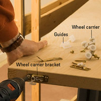 Attach wheel carrier bracket