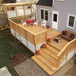 bird's eye view of deck